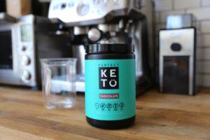 Perfect Keto collagen MCT choc powder mix